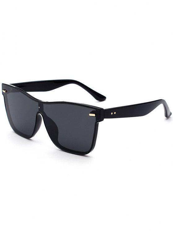 latest Outdoor Conjoined Rim Sunglasses - BLACK