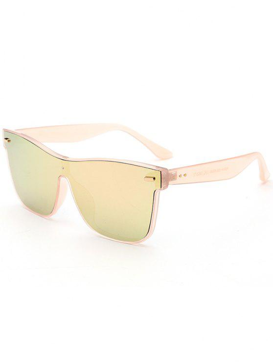 trendy Outdoor Conjoined Rim Sunglasses - ROSE GOLD