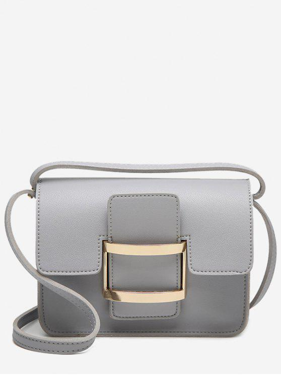 sale Metal Detail Buckle Strap Crossbody Bag - GRAY