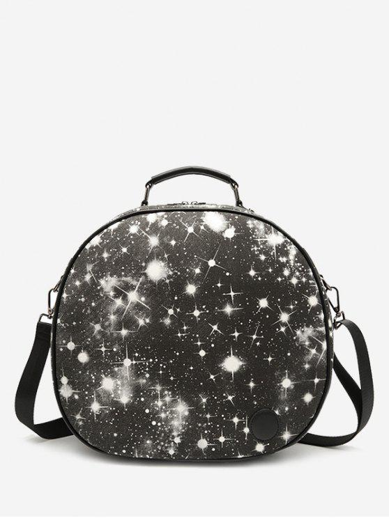 Canvas Starry Sky Crossbody Bag - Noir