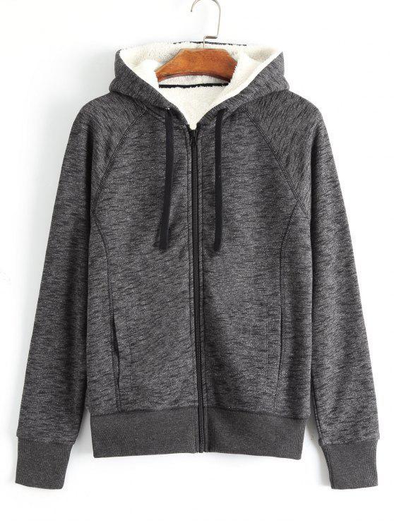 best Zippered Fleeced Hooded - GRAY S