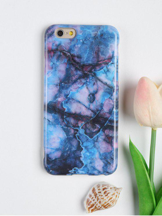 Marble Pattern Soft Case para Iphone - Azul Escuro Para IPHONE 6 / 6S
