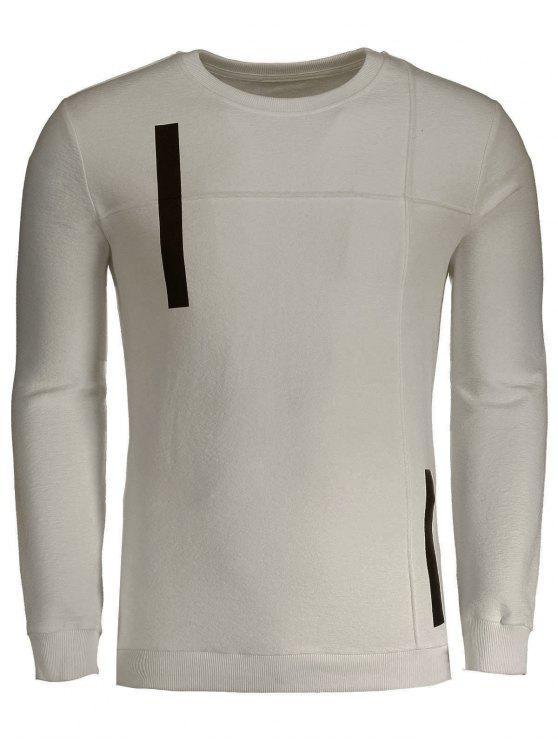 Männer Sweatshirt aus Baumwolle mit Applikation - Aprikose 3XL