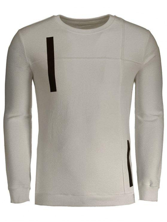 outfits Applique Cotton Mens Sweatshirt - APRICOT XL