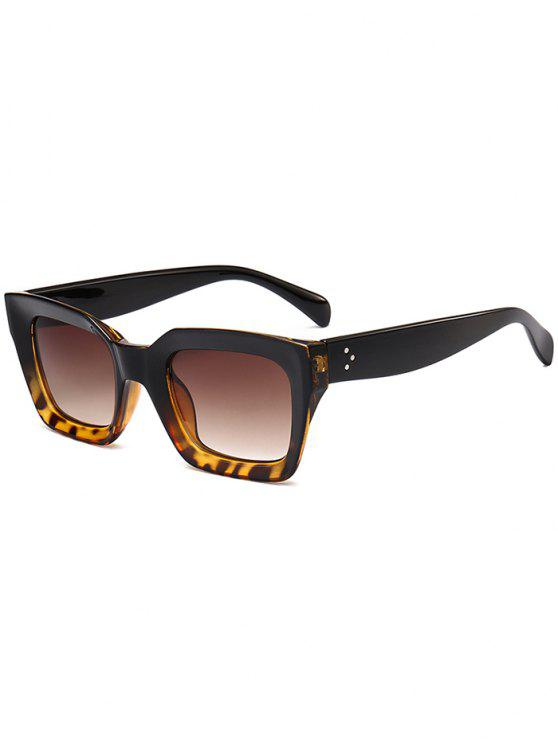women UV Protection Full Frame Square Sunglasses - BLACK BROWN