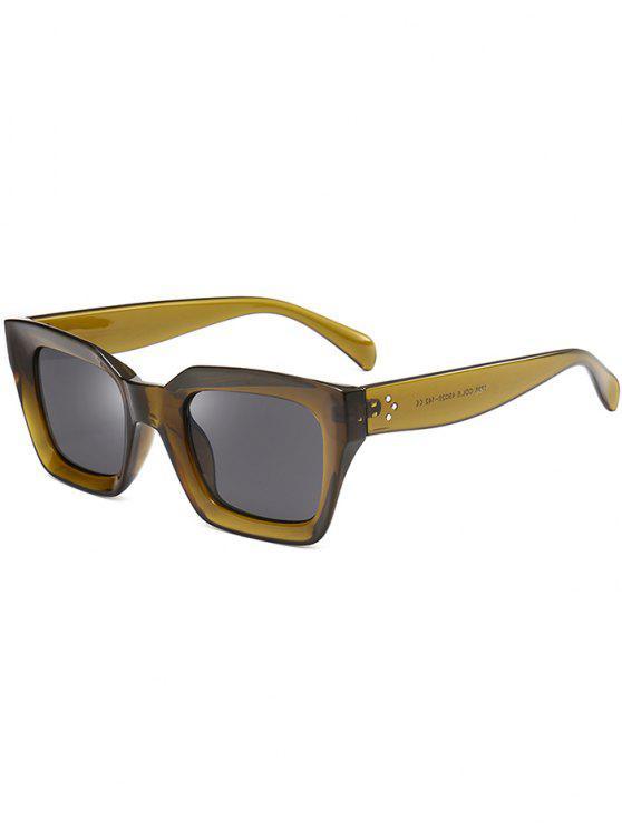 Proteção UV Full Frame Square Sunglasses - OLIVE GREEN