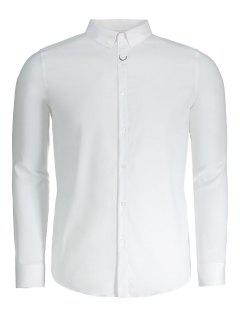 Button Down Mens Formal Shirt - White 3xl