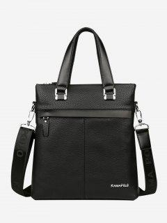Business Faux Leather Handbag - Black