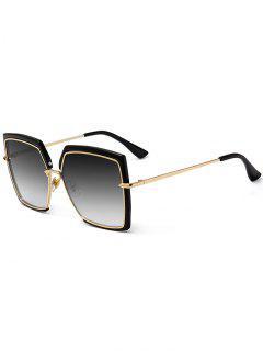 Anti UV Full Frame Oversized Square Sunglasses - Black Sliver