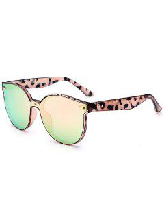 Outdoor Full Frame Mirror Butterfly Sunglasses - Rose Gold