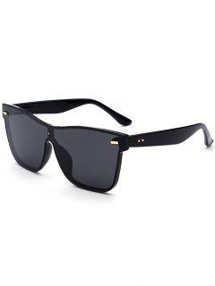 Outdoor Conjoined Rim Sunglasses - Black