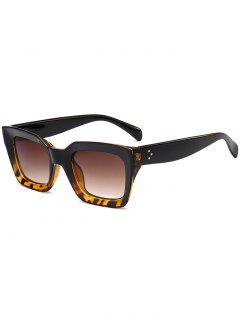UV Protection Full Frame Square Sunglasses - Black Brown