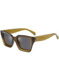 UV Protection Full Frame Square Sunglasses - Olive Green