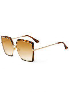 Anti UV Full Frame Oversized Square Sunglasses - Leopard+dark Brown