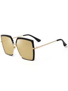 Anti UV Full Frame Oversized Square Sunglasses - Black And Brown