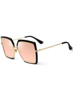 Anti UV Full Frame Oversized Square Sunglasses - Pink