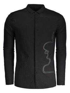 Braided Mens Shirt - Black Xl