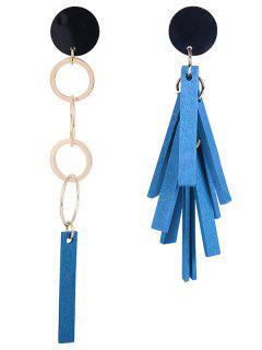 Firecracker Asymmetrical Stud Drop Earrings - Blue