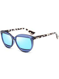 Eyebrow Cat Eye Sunglasses - Blue