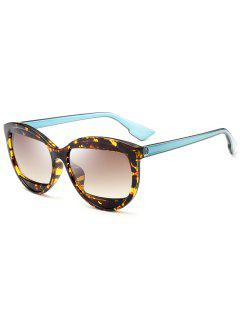 Eyebrow Cat Eye Sunglasses - Tea-colored