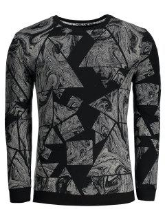 Abstract Print Mens Sweatshirt - Black 3xl