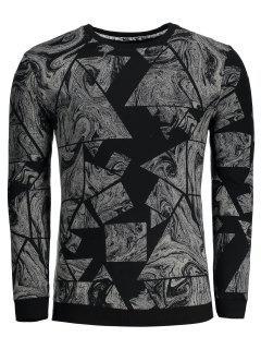 Abstract Print Mens Sweatshirt - Black Xl