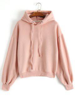 Drop Shoulder Hoodie - Shallow Pink L