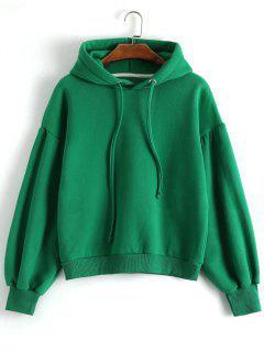 Drop Shoulder Hoodie - Green M