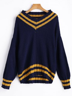 Chunky Cricket Sweater - Deep Blue