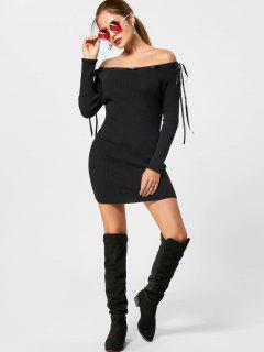 Vestido De Tirantes De Hombro - Negro M