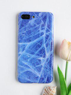 Stone Pattern Phone Case For Iphone - Blue For Iphone 7 Plus