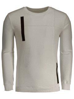 Applique Cotton Mens Sweatshirt - Apricot 3xl