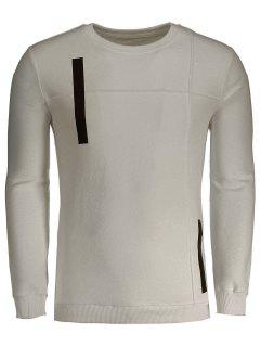 Applique Cotton Mens Sweatshirt - Apricot L