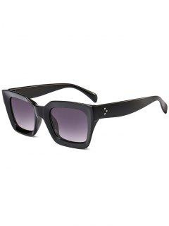UV Protection Full Frame Square Sunglasses - Black