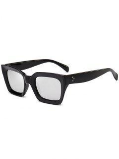 UV Protection Full Frame Square Sunglasses - Silver