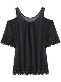 Robe De Survêtement Sur épaule Froide - Noir 2xl
