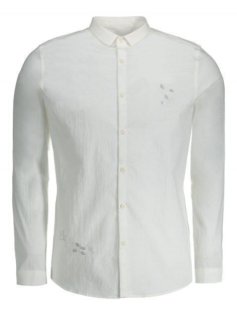 Botón bordado para hombre encima de la camisa - Blanco 3XL Mobile