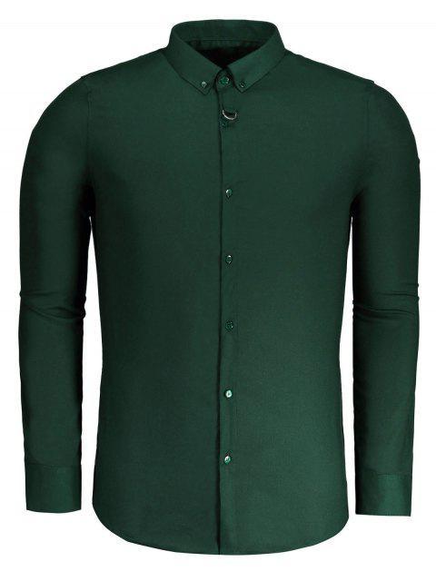 Camisa formal para hombre con botones - Verde 3XL Mobile