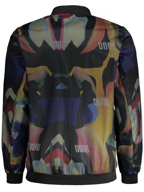 lady Graphic Print Fishnet Jacket - FLORAL XL Mobile