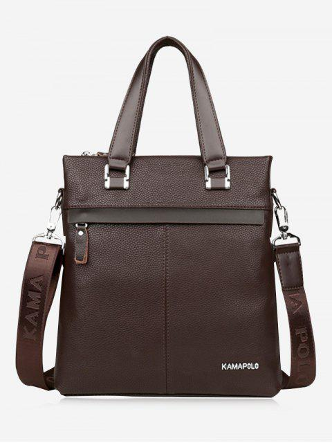 Business Faux Leder Handtasche - Braun  Mobile