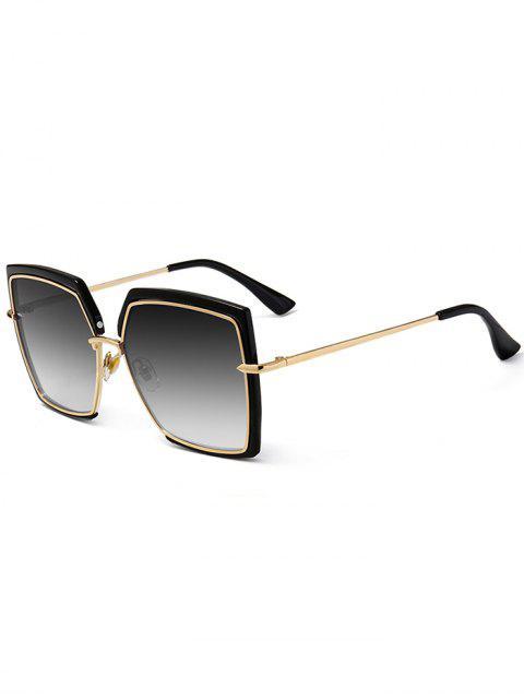 Anti-UV-Vollformat Übergroße quadratische Sonnenbrille - SCHWARZES STÜCKCHEN  Mobile