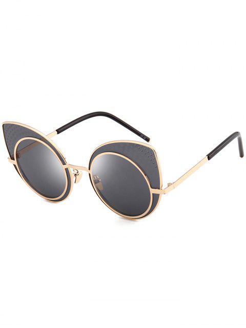 Anti-UV-Rhinestone verschönerte Katzenaugen-Sonnenbrille - Schwarz  Mobile