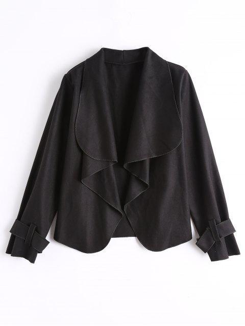 Jacke mit Gürtel an den Ärmel und Frontöffnung - Schwarz L Mobile