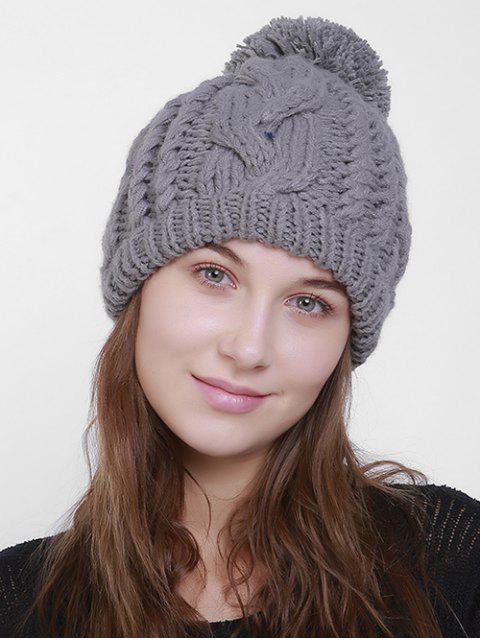 Chapeau simple en tricot Knit Pom - Gris  Mobile