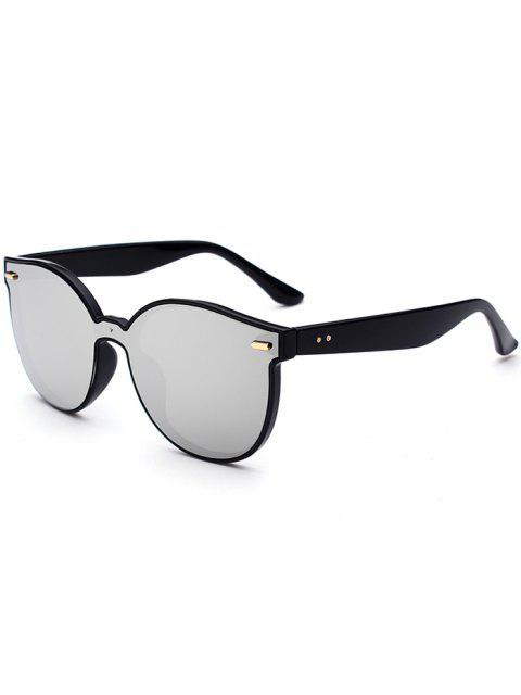 Outdoor Full Frame Spiegel Schmetterling Sonnenbrille - silber  Mobile