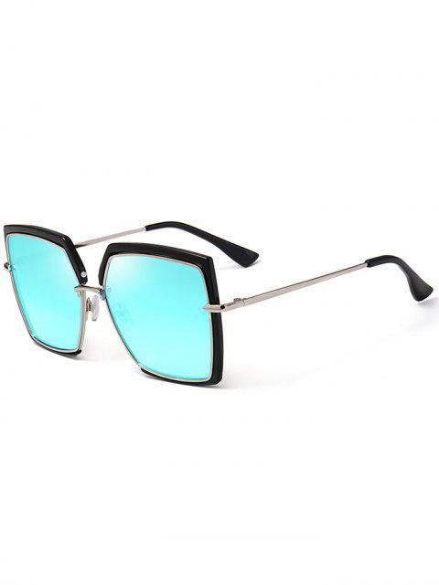 Anti-UV-Vollformat Übergroße quadratische Sonnenbrille - Blau  Mobile