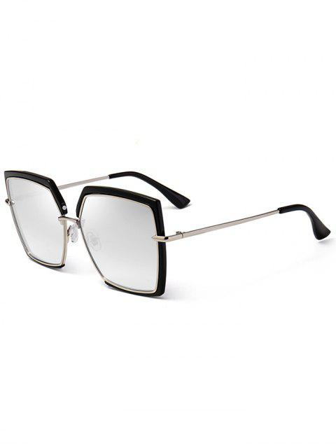 Anti UV Full Frame Oversized Cuadrado Gafas de Sol - Plata  Mobile