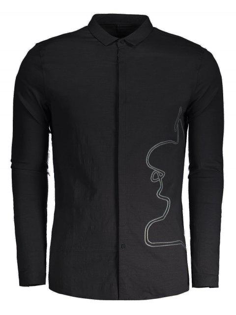 women's Braided Mens Shirt - BLACK 2XL Mobile