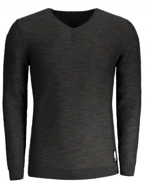 Pullover mit V-Ausschnitt und Farbmischung - Kafee 2XL Mobile