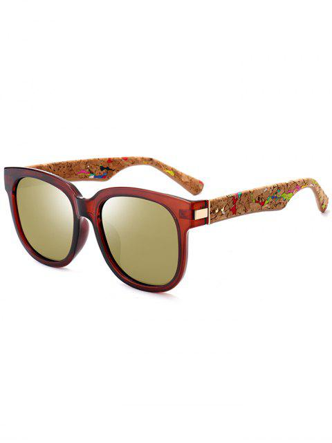 sale Marble Grain Legs Full Frame Mirror Sunglasses - TEA-COLORED  Mobile